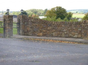 Stone entrances built at Conna Nursing Home, Conna, Co. Cork .