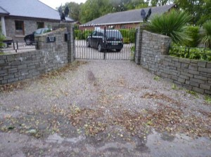 Stone entrances built in Loughaderra Lake, Ballintotis, Co. Cork.