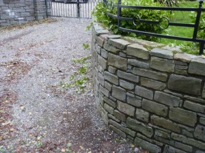 Stone walls built in Ballintotis, Castlemartyt, Co. Cork.