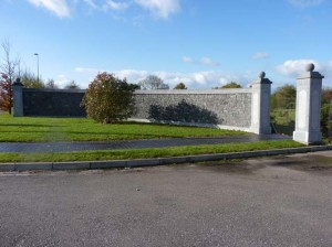 Stone entrances built in Midleton for Castlelands Construction.